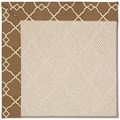 Capel Rugs Creative Concepts White Wicker - Arden Chocolate (746) Octagon 6