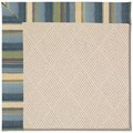 Capel Rugs Creative Concepts White Wicker - Kalani Ocean (417) Octagon 10