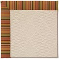 Capel Rugs Creative Concepts White Wicker - Tuscan Stripe Adobe (825) Octagon 10