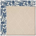 Capel Rugs Creative Concepts White Wicker - Batik Indigo Blue (415) Octagon 12