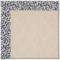 Capel Rugs Creative Concepts White Wicker - Coral Cascade Navy (450) Octagon 12