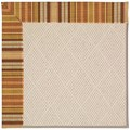 Capel Rugs Creative Concepts White Wicker - Vera Cruz Samba (735) Octagon 12