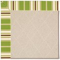 Capel Rugs Creative Concepts White Wicker - Tux Stripe Green (214) Runner 2