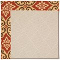 Capel Rugs Creative Concepts White Wicker - Shoreham Brick (800) Runner 2