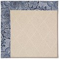 Capel Rugs Creative Concepts White Wicker - Paddock Shawl Indigo (475) Rectangle 3