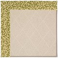 Capel Rugs Creative Concepts White Wicker - Coral Cascade Avocado (225) Rectangle 4