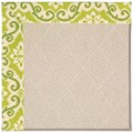 Capel Rugs Creative Concepts White Wicker - Shoreham Kiwi (220) Rectangle 6