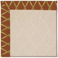 Capel Rugs Creative Concepts White Wicker - Bamboo Cinnamon (856) Rectangle 7