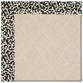 Capel Rugs Creative Concepts White Wicker - Coral Cascade Ebony (385) Rectangle 8