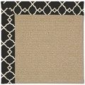Capel Rugs Creative Concepts Sisal - Arden Black (346) Octagon 10