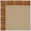 Capel Rugs Creative Concepts Sisal - Tuscan Stripe Adobe (825) Octagon 10