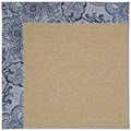 Capel Rugs Creative Concepts Sisal - Paddock Shawl Indigo (475) Rectangle 3