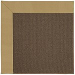 Capel Rugs Creative Concepts Java Sisal - Canvas Brass (180) Octagon 4' x 4' Area Rug