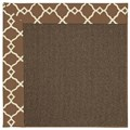 Capel Rugs Creative Concepts Java Sisal - Arden Chocolate (746) Octagon 6