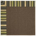 Capel Rugs Creative Concepts Java Sisal - Vera Cruz Coal (350) Octagon 8