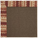Capel Rugs Creative Concepts Java Sisal - Java Journey Henna (580) Rectangle 8' x 8' Area Rug