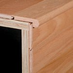 "Bruce Hardwood Flooring by Armstrong American Originals Maple Plank:  Stair Nose Grand Canyon - 78"" Long"