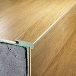 "Quick-Step Classic: Overlap Stair Nose Bisque Alder - 94.5"" Long"