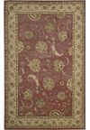 Capel Rugs Creative Concepts Cane Wicker - Coral Cascade Ebony (385) Octagon 6' x 6' Area Rug