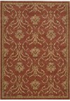 Capel Rugs Creative Concepts Cane Wicker - Linen Chili (845) Rectangle 4' x 4' Area Rug