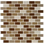 "Daltile Mosaic Traditions: Caramelo 3/4"" x 1-1/2"" Glass Brick-joint Mosaic Tile BP95-34112BJMS1P"