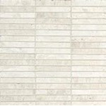 "Daltile Marble: White Cliffs 5/8"" x 4"" Straight Joint Mosaic M105-584SJMS1L"