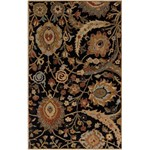 "Surya Ancient Treasures Coal Black (A-154) Rectangle 5'0"" x 8'0"""