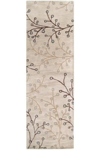 Surya Athena Feather Gray (ATH-5008) Rectangle 2'6