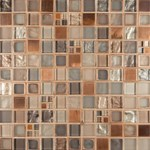"MS International Manhattan Blend Pattern Glass Metal Blend Mosaic 12"" x 12"" : SMOT-GLSMT-MB8MM"