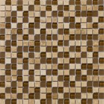 "Emser Lucente Stone and Glass Blends Mosaic 12"" x 12"" : Tromba"