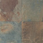 "Daltile Slate Imported: Mongolian Spring 12"" x 12"" Natural Stone Tile S78112121P"