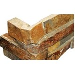 "MS International California Gold Ledger Corner 6"" x 18"" Natural Slate Wall Tile : LPNLSCALGLD624COR"