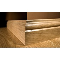 "Kahrs Linnea City Collection:  Wall Base American Cherry Natural - 96"" Long"
