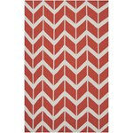 "Surya Jill Rosenwald Fallon Coral (FAL-1054) Rectangle 5'0"" x 8'0"""