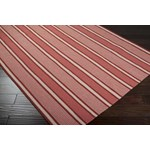 "Surya Country Living Farmhouse Stripes Redwood (FAR-7009) Square 0'6"" x 0'6"""